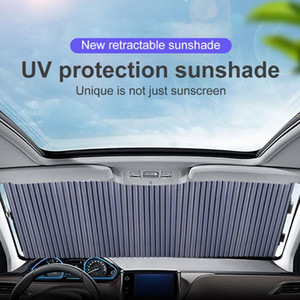 Car Retractable windshield Sun Shade Block sunshade cover Front Rear window foil Curtain for Solar UV protect 46 65 70cm