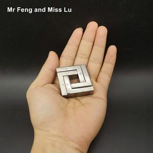 Metal Cast Puzzle Ring пересобираться Игры разума Мозг Пазлы Игрушки Детские Y200414