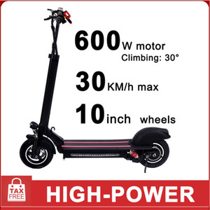 Germany Warehouse 10inch Aluminum alloy electric scooter 48V 600W power 12Ah Battery adult Smart Scooter GYL003 Fast delivery