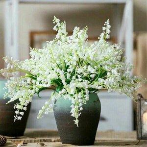 "Fake Bell Ochid (7 stems bunch) 13.39"" Length Simulation Campanula for Wedding Home Showcase Decorative Artificial Flowers"