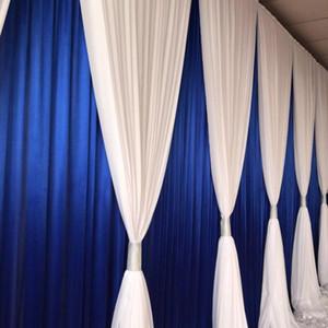 contexto de la boda del azul real 3mx6m cortina Nomantic gasa blanca Swag de cortinas para el partido contexto de la boda Decoración