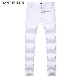 Männer Jeans für Männer Stretch Denim eng Slim Fit Klassische Skinny Jean Hombre Elastic Casual White Bleistift Pants Herren Marke