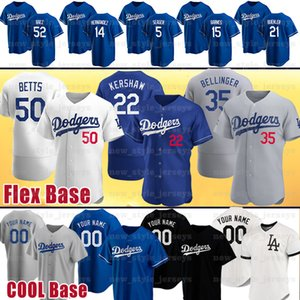 Custom 22 Clayton Kershaw Jersey 50 Mookie Betts 15 Bobby Miller 10 Justin Turner Enrique Hernández Kenley Jansen camisetas de béisbol