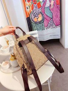 Female Topped Backpack Joker Bag Fashion Genuine Leather Shoulder Bucket Handbag Vintage Women Crossbody Messenger Bags New Woman Handbags