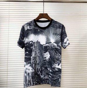 2019 NEUER Sommer lässige Herren-T-Shirts hochwertige Art und Weise 3 d die Landschaft Druck Kurzhülse Männer s-T-Malerei Tops Männer T-sh