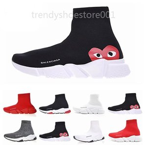 2019 ACE casual sock Shoes Brand Speed Trainer Black Red Triple Black Fashion Socks Boots Sneaker Trainer shoes 36-45 A85 TTP09