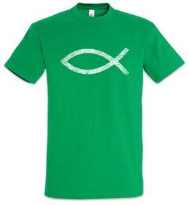ICHTYS T-shirt do deus dos peixes de Jesus Cristo Christian Sign Symbol Igreja Católica