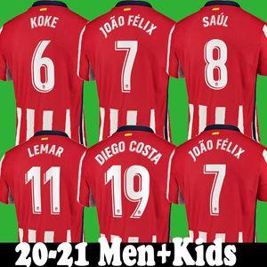 2020 JOAO FELIX مدريد لكرة القدم جيرسي 2021 الاطفال camiseta دي فوتبول M.LLORENTE موراتا SAUL ATLETICO KOKE DIEGO COSTA 2021 لكرة القدم قمصان مجموعات