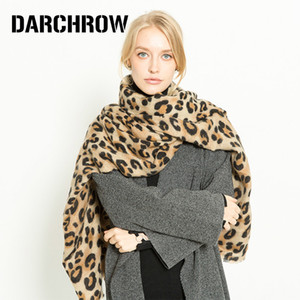 DARCHROW Leopard Printed Scarf Women Winter Blanket Scarf Warm Soft Cashmere Thicken Shawls Scarves for Women Lady CX200727