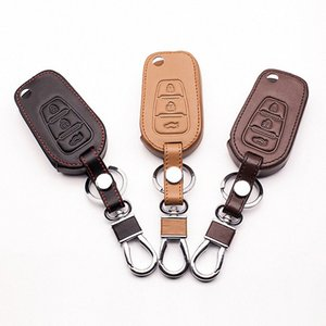 2017 Hot Sale Top Layer couro Remote Control Key tampa da caixa de Proteção Bag Folding Para Lifan X60 Auto Acessórios Starline A91 Autom Z84s #
