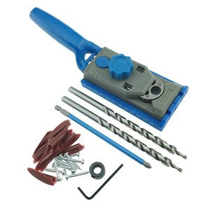 Pocket Hole Jig Core Drill Guide Wood Doweling Joinery Screws Clamping Jig Woodworking Drilling + 2PC Drill Bit DEC522
