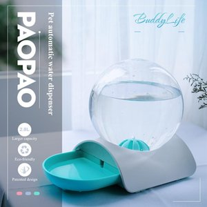 NEW Bubble Automatic Pet Water Fountain Cat Water Bottle Dog Bowls pet food container interactive feeding Water Dispenser T200101