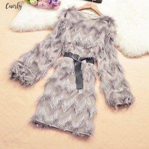 Womens Feather Dress With Bow Belt Tassel Long Sleeve High Waist Solid Bodycon Lady Mini Dresses Woman Vestido Female