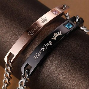 Simple Stainless Steel Pair Bracelet Homme Name Couple Bracelet Femme Gold Handchain Fashion Jewelry Best Friends Birthday Gifts