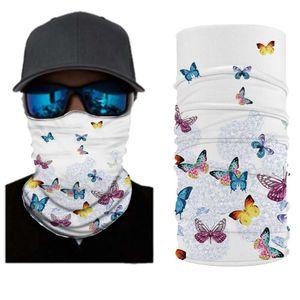 Cycling Bicycle Motorcycle Headband Scarf Neck Warmer Flower Butterfly Helmet Face Mask Ski Balaclava Headband Full Face Shield