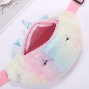 2016 Cute Unicorn Female Waist Bag Kids Fanny Pack Cartoon Plush Women Belt Bag Fashion Travel Phone Pouch Chest Bag Product Image HePYP