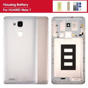 For HUAWEI Mate 7 MT7-UL00 MT7-L09 Replacement Back Door Battery Case With Side Buttons Lens Glass Metal Rear Housing Cover
