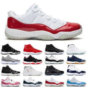 11 11s cereja mulheres Basketball Shoes Rose Gold Low Branca Bred homens de prata metálico do Space Jam Gamma azuis instrutor das sapatilhas 36-47