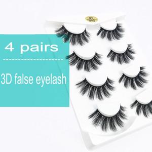 4 Pairs Natural False Eyelashes Fake 3d Mink Eyelashes Makeup Eyelash Extension Silk Protein Eye Lashes