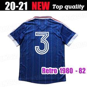 1980 camicia 1982 FRANCIA casa RETRO ZIDANE HENRY Maglia FOOT qualità della Tailandia del pullover di calcio delle uniformi di calcio del pullover