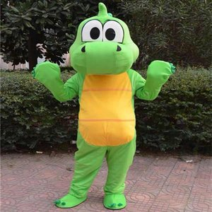 2020 Hot sale Green dragon Dinosaur Mascot Costume Cartoon Clothing Adult Size Fancy Dress Party Free Shipping
