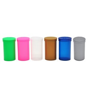 Plastik Malzeme Saklama Kutusu 19 Dram Boş Squeeze Pop Üst Şişe Kuru Ot Kutusu Konteyner Silindirik 70x40mm 1 5XB D2