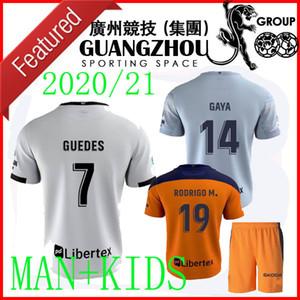 20 21 VALENCIA embroma los jerseys CF RODRIGO 2020 2021 PAREJO Kang In GAMEIRO la camisa del fútbol del jersey GAYA GUEDES C.SOLER hombres Tercera de Visitante