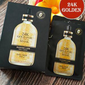 24K gold foil Fade uneven tone Mild moisturizing Deep repair Black Face Skin Care Remove Freckle Easy absorb Wholesale face masks