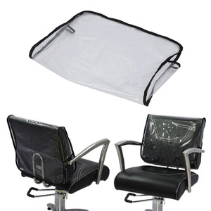 PRO Barber Beauty Salon Chair Protective Cover Vinyl Square, Back Cover of Salon Chair, Clear, Waterproof