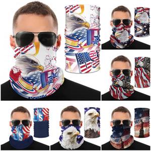 Мода США Американского флага Национальной птица печать Волшебный шарф Многофункциональная маска Открытый спортивный браслет против комаров пылезащитного колпачка