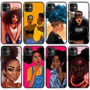 Мода Черная девушка чехол для Iphone 12 12 11 мини Pro Xs Max ХГ Black Beautiful Girl Soft TPU чехол телефона