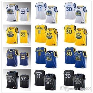Frauen der Männer JugendGoldenZustandKrieger22 AndrewWiggins 11 KlayThompson 30 StephenCurry Basketball Jerseys