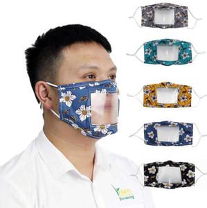 Губа Язык Face Mask 5 цветов Очистить окно Видимых Маски для лица Рта моющегося Анти Пыль глухонемого глухонемая Маска OOA8240