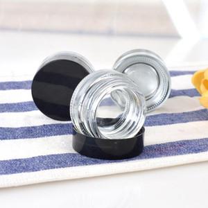 Clear Eye Creme Jar 3g 5g leeren Glaslippenbalsam Container Weithals Cosmetic Probengefäß mit starken unteren LX2539