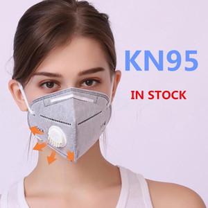 VENDA IMPERDÍVEL! Frete grátis kn95 máscara reutilizável Pacote Único Dustproof Facial Máscaras protetor respirador da boca respirável rosto com Vavle