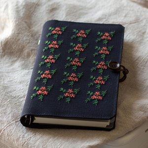 A6 A5 Вышитые Цветочные Ткань крышки Перекидной Спираль Литературные Artisy Notebook Diary Book Персональный Планировщик Журнал путешествий