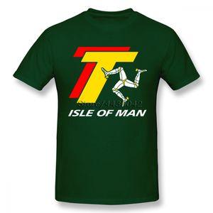 ISLE OF MAN TT T-shirt For Men Dropshipping Summer Short Sleeve Cotton Plus Size Custom Team Tee 4XL 5XL 6XL