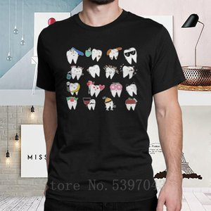 Men Teeth Baby T-Shirts Dentist Dentistry Dental Hygienist Round Neck Tops Funny Printed short sleeve Tees Cotton T Shirts