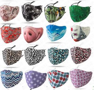36 Designer waschbare Gesichtsmaske für Frauen-Männer-Blumen-Raum-Baumwolle atmen Ultraviolettbeweis Staubdichtes Angepasst Mouth-Muffel Masken D71614