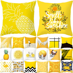 Bright Color 45cm*45cm Cotton Blend Car Sofa Office Home Decoration Cushion Cover Pillow Case