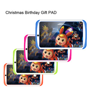 NEW! 7 inch Kids Tablet PC 1024x600 Screen 3D hardware acceleration 512+4GB Children Education Games Birthday Christmas Gift