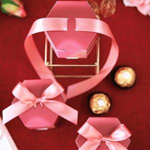 50pcs Red Rose Papier Süßigkeit-Kasten-Geschenk-Beutel-Hochzeits-Geschenk-Box Babypartybevorzugungen E65B Jjvg #