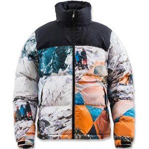 20FW Joint Snow Mountain Camp unten Jacke Stickerei Brief Logo Outwear hinunter Mantel Mode High Street Paar Damen Herren Jacken HFXHYRF027