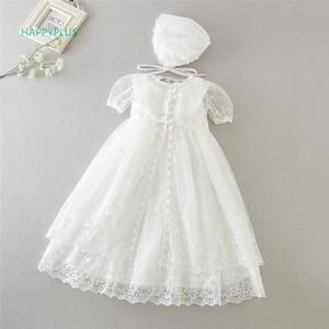 Abito di battesimo HAPPYPLUS dell'annata per la neonata Frocks Lace Baby Shower Abito per battesimo Secondo Primo compleanno Outfit Ragazze
