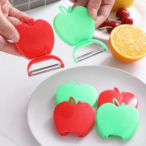 nova plaina da Apple portátil dobrável faca Paring descascador descascador de melão frutas plaina 2 zesters cor Ferramentas vegetais DHB377