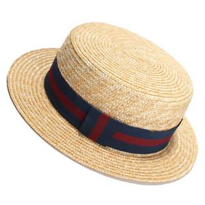 الصيف القش قبعة القوس حوض القبعات شقة أعلى قبعة الشمس قبعة المرأة مصمم بريم القبعات بالجملة