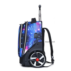 "TRAVEL TALE 20"" inch carry on Lazy school rolling trolly bag travel backpack luggage on wheels CX200718"