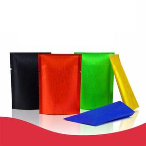 6 Size wire drawing Colorful Aluminum Foil Pouches Heat Sealable Bags Smell Proof Foil Bags Pouches Foil Bags Factory wholesale LX2046