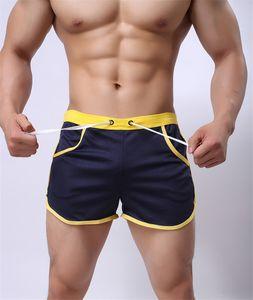 Mens Designer retalhos de Fitness Shorts de Verão de cor sólida com cordão Shorts roupas soltas Shorts roupas com bolsos