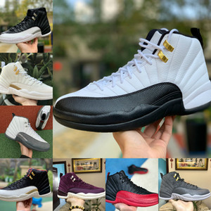 Herren-Basketball-Schuhe 12s Jumpman OVO Weiß Universität Gold Stone Blau 12 Flu Spiel Royal Master-Dunkelgrau-Mann-Sport-Turnschuhe Größe 7-12